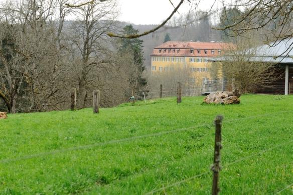 Slot Grafeneck gezien vanaf de plek van de gaskamer