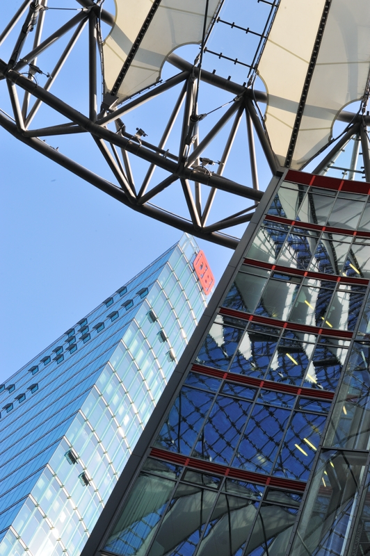 from inside the Sony Center