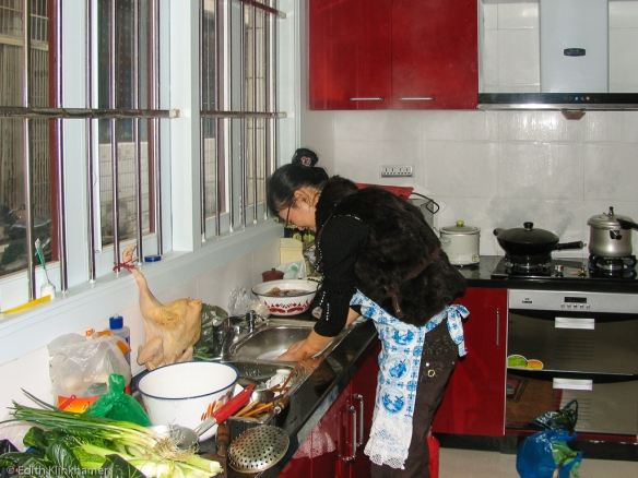Aojiang in the kitchen