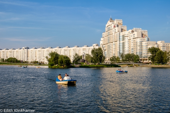 Svislach River in Minsk. A nice place to relax, to hang out, to meet other people.
