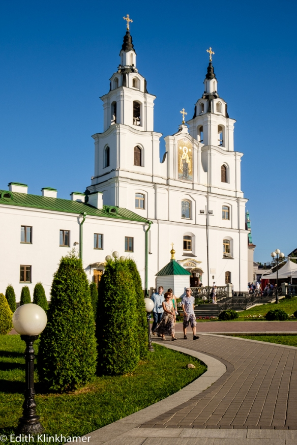 the Belarusian-Orthodox cathedral in Minsk , one of the numerous churches (with a variety of denominations)